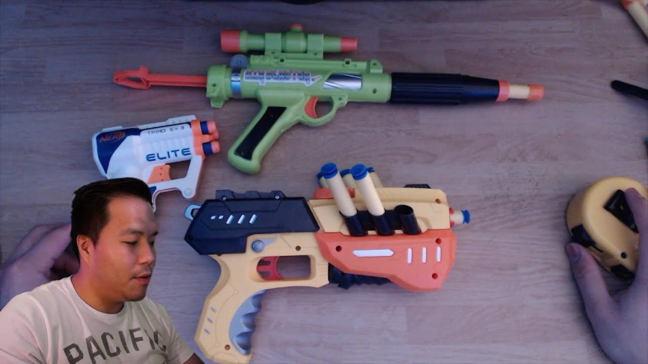 Nerf Triad EX 3 vs Dollar Store Guns Review & Tar Practice