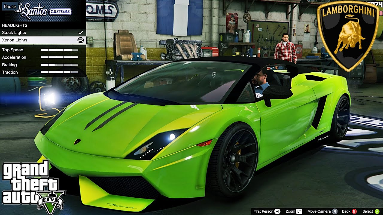 Lamborghini Gallardo Lp 570 4 Spyder Gta V Car Mod Tuning