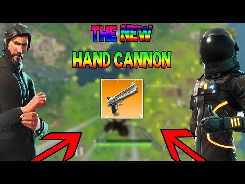 THE NEW HAND CANNON!!! ft. JOHN WICK - (FORTNITE BATTLE ROYALE GAMEPLAY)