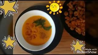 Крем #суп из тыквы с креветками  Рецепты для всей семьи