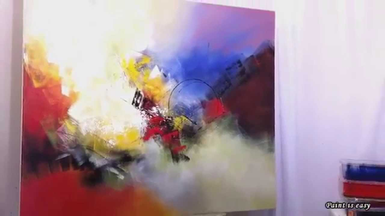 Painting On Canvas With Acrylic Paint Youtube