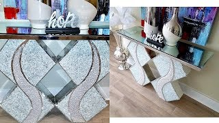 DIY 2 IN 1 BEADED TABLE AND VASE! QUICK AND EASY ROOM LUXURY DECOR!