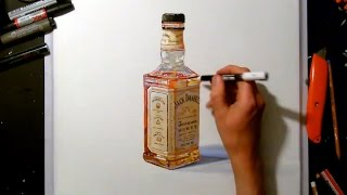 jack daniels whisky realistic painting