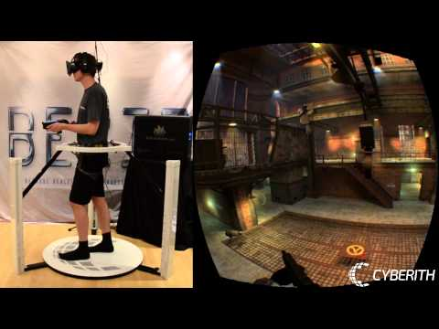 Half Life 2 Deathmatch Multiplayer in VR with the Cyberith Virtualizer and the Oculus Rift