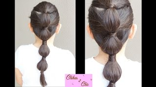 Bubble Ponytail | Elastic Bands hairstyles | Cute Hairstyles