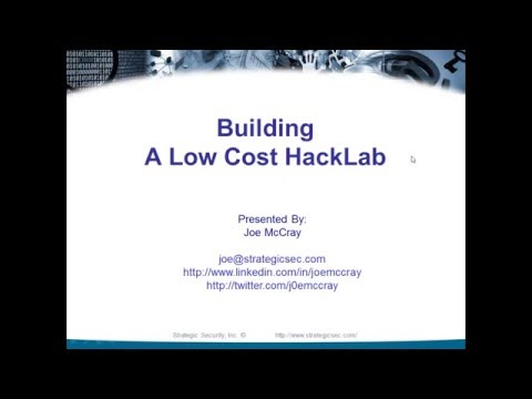 How To Build Your Own Low Cost HackLab