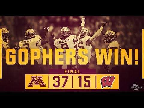 Highlights Gopher Football Defeats Wisconsin 37 15 Wins Paul