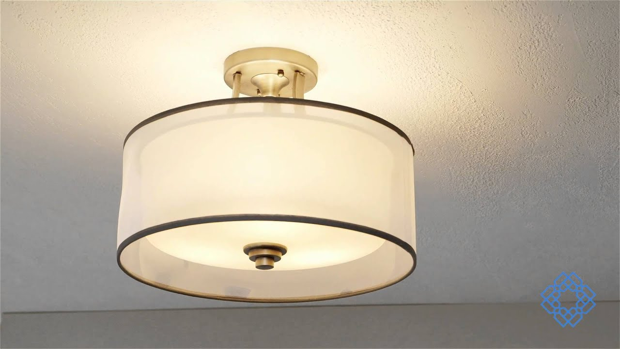 Kichler Lacey Three Light Semi Flush Mount Bellacor