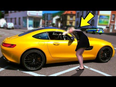 GOLD DIGGER PRANK Mercedes AMG GTS | Rich Kid 2017 Prank