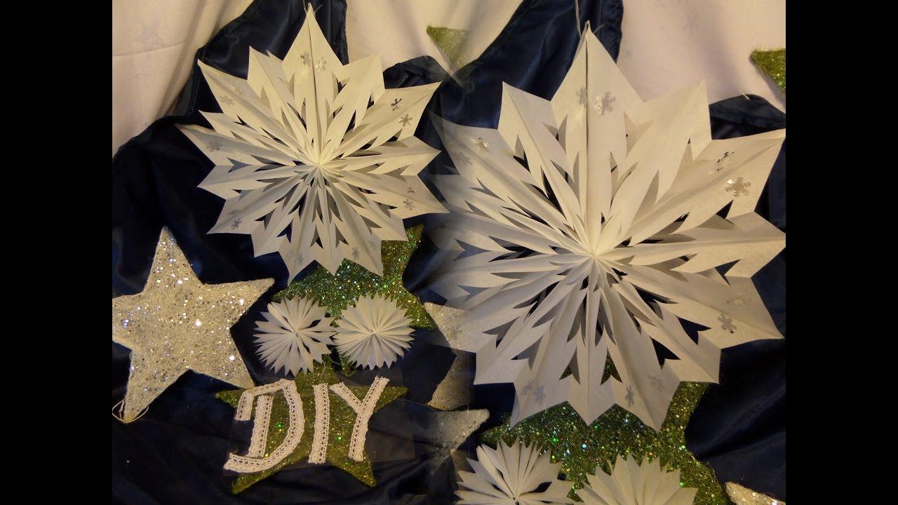 DIY: Großer Eisblumen STERN Aus Papier-Frühstückstüten