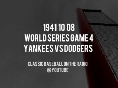 1941 10 08 World Series Game 4 Yankees at Dodgers Radio Broadcast