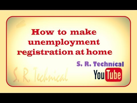 How to make employment registration at home.
