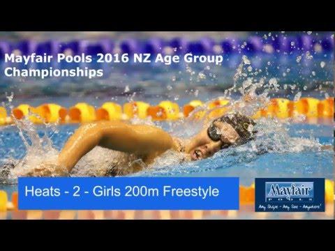 heat 2 - Girls 200m Freestyle