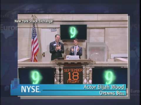 18 September 2009 NYSE Opening Bell Elijah Wood