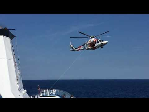 MS Ocean Majesty second medical emergency with helicopter du
