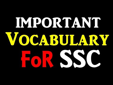 Important Vocabulary for SSC (Vocabulary-47)