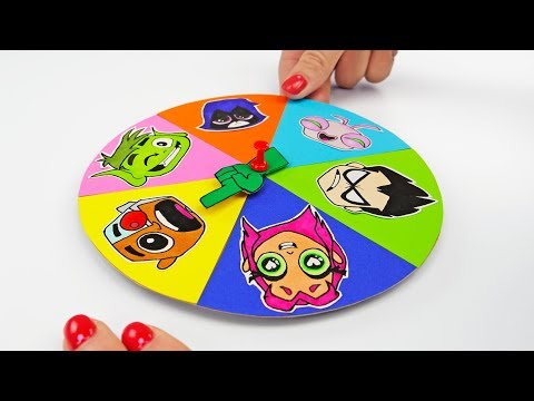 MYSTERY WHEEL with TEEN TITANS GO! and Other Cool DIY For Fun