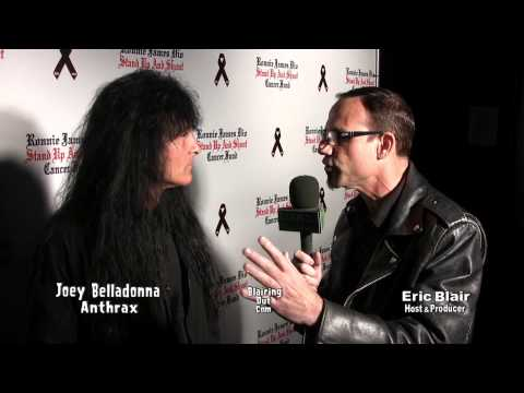 ANTHRAX's Joey Belladonna talks W Eric Blair @ the Ronnie James Dio Stand Up and Shout cancer fund