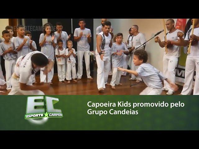 Capoeira Kids promovido pelo Grupo Candeias