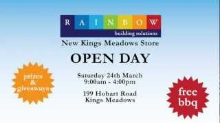 Rainbow Building Solutions - Kings Meadows Open Day 15 Sec Tvc (720p) [mar 2012]