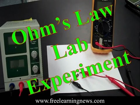 Electronics Lab,Verification of Ohm's Law Experiment,Ohm's Law