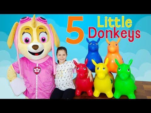 Ceylin & Skye - Learn Colors with Donkeys - Five Little Monkeys - Are You Sleeping - Johhny Yes Papa