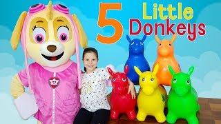 ceylin skye learn colors with donkeys five little monkeys are you sleeping johhny yes papa