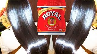 Cabelo liso em 2 dias – Use Pó Royal – Poderosa progressiva caseira alisamento efetivo