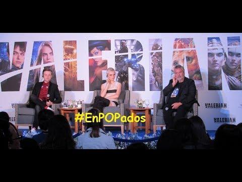 """CARA DELEVINGNE y DANE DEHAAN en México Conferencia de prensa """"VALERIAN"""" #EnPOPados"""