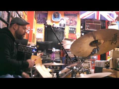 Toms Music Trade after hours drunk drums.