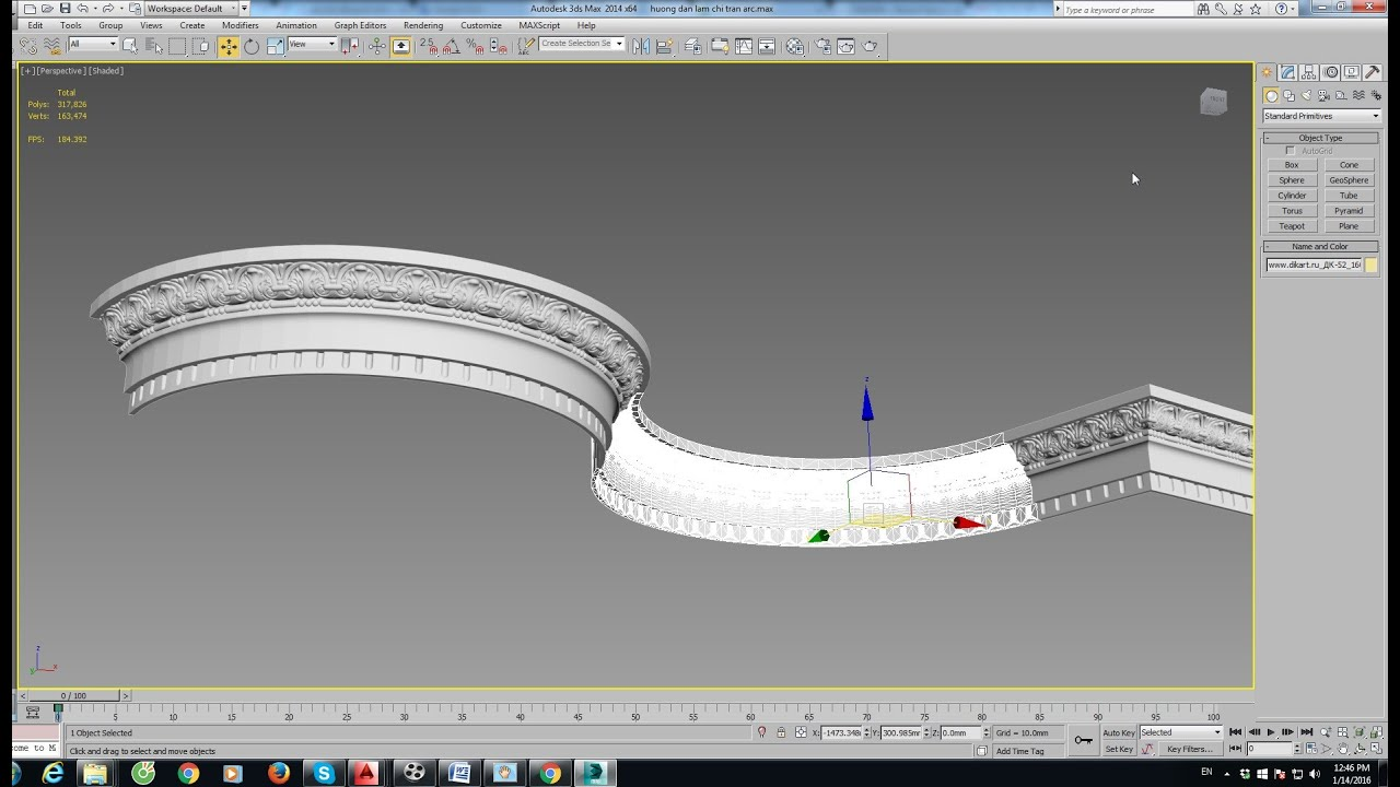 3d Max Modeling Arc Ceiling Decor No Plugin Very Easy