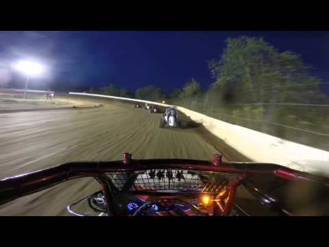 Rookie 600 Wingless Micro Heat Race at Hamlin Speedway 9/19/15