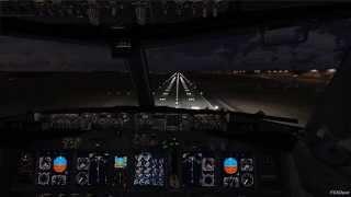 ✈ᴴᴰ FSX   Boeing 737-800 Cockpit View Landing at Budapest