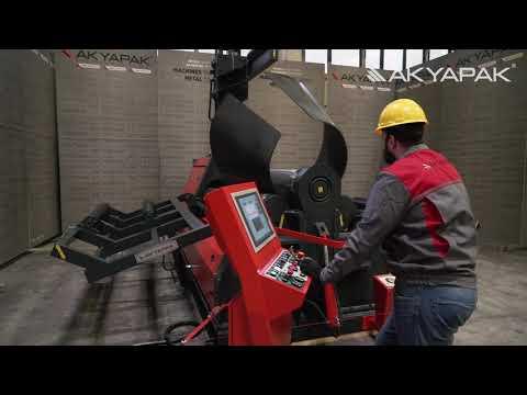 Akyapak AHS 30-10 / 4 Rolls Hydraulic Plate Bending Machine Elliptical Bending & Cone Bending