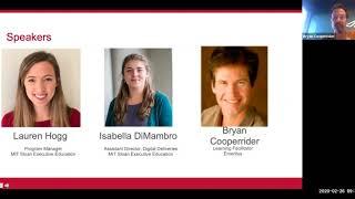 MIT Sloan Executive Education | Mastering Design Thinking  | Webinar