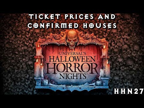 halloween horror nights hhn27 universal orlando ticket prices and houses update - How Much Are The Halloween Horror Night Tickets