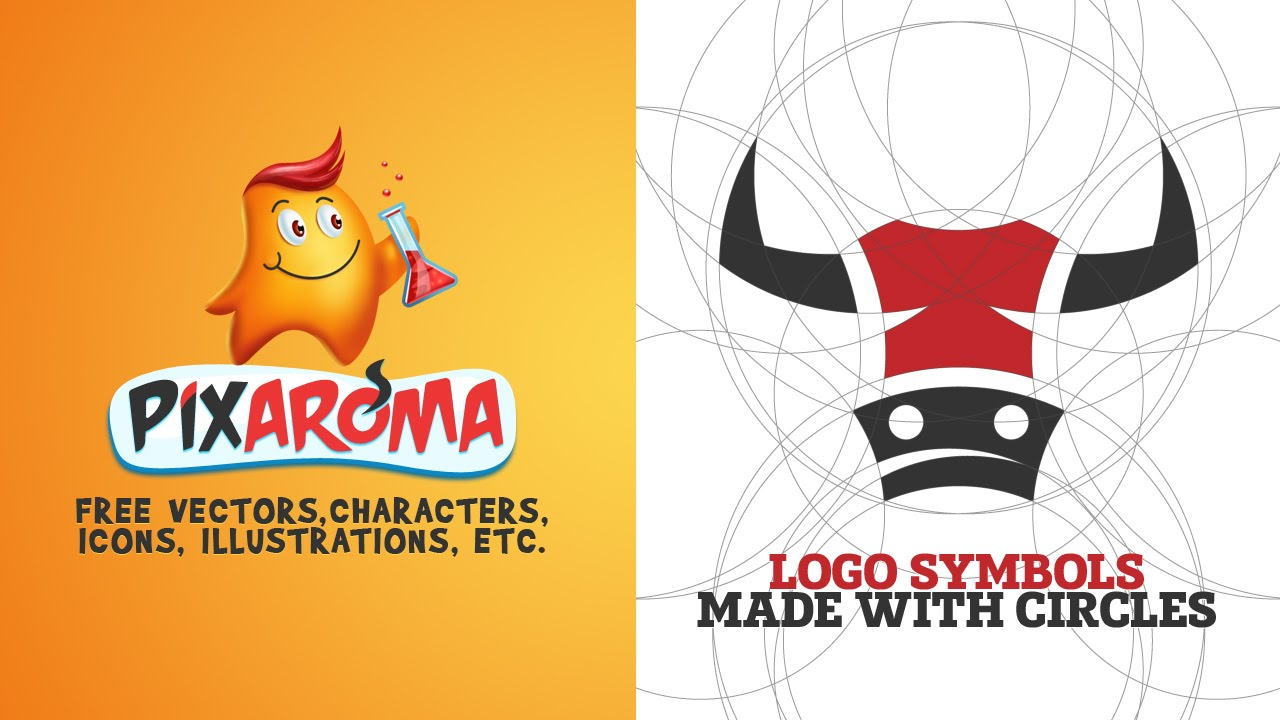 How to make logo symbols from circles - sketch to vector process