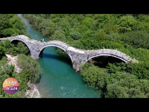 Old stone bridges # Zagorochoria, Epirus, Greece # With drone scenes.