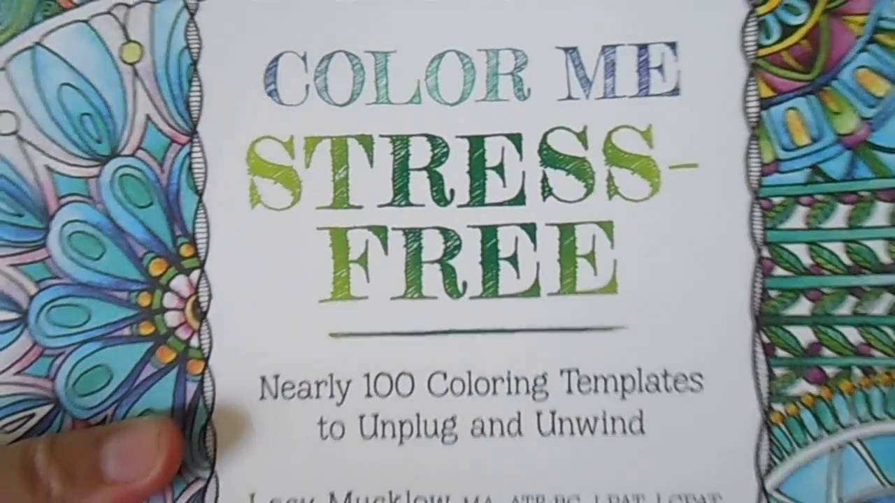 FLIP THROUGHT Color Me Stress Free A Zen Coloring Book