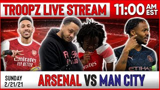 ARSENAL 0-1 MAN CITY | WATCHALONG W/TROOPZ AND ZAH