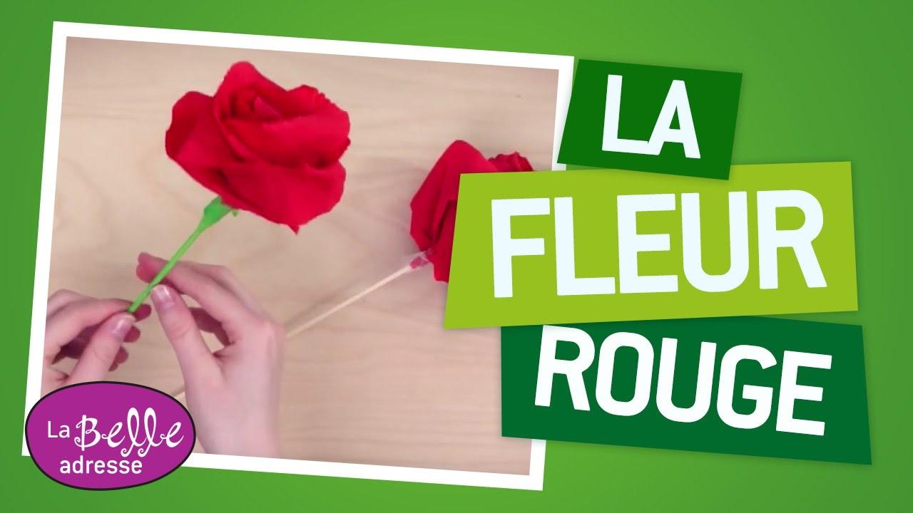 Décoration De Table Fabriquer Une Fleur En Papier Rouge