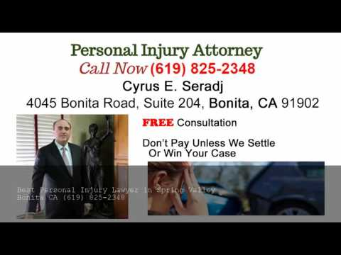 Personal Injury Lawyer Spring Valley - (619) 825-2348