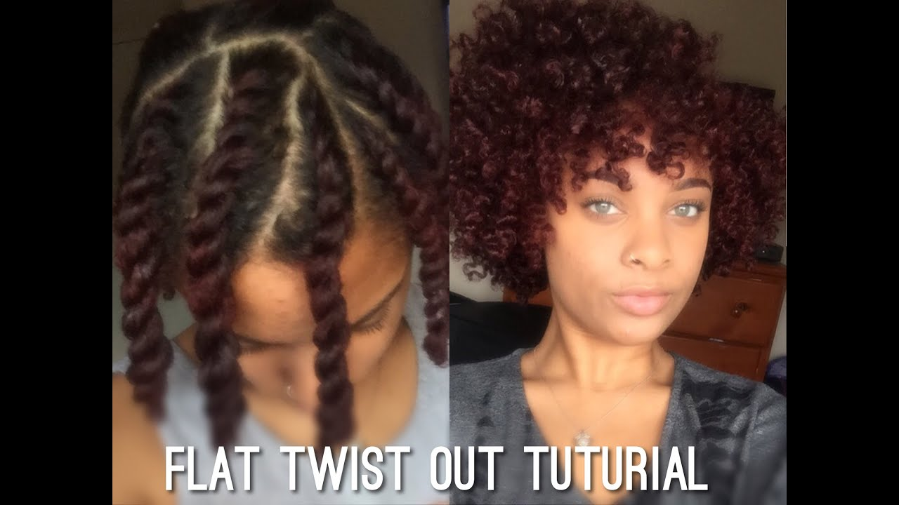 Flat Twist Out on Short/Medium Length Natural Hair - YouTube