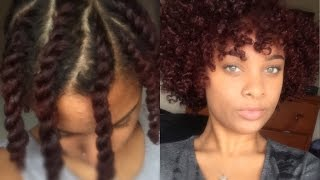 Flat Twist Out On Short Medium Length Natural Hair Youtube