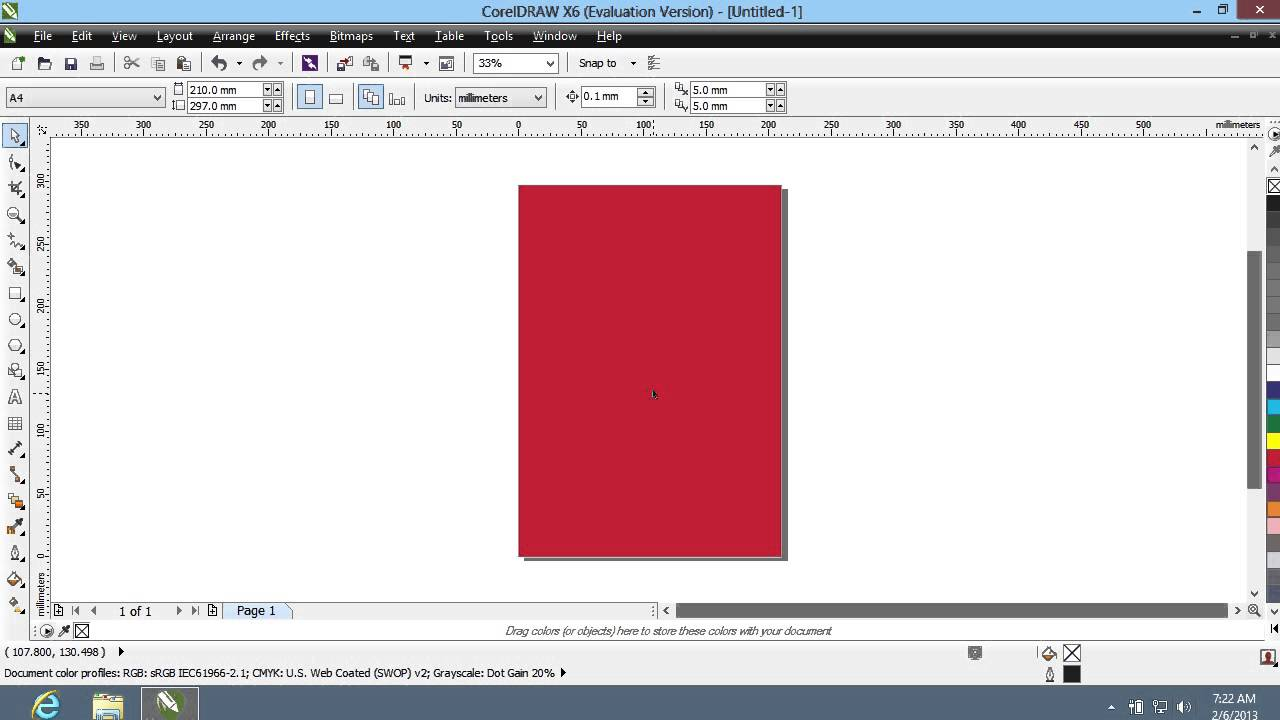 How To Create Background In CorelDraw