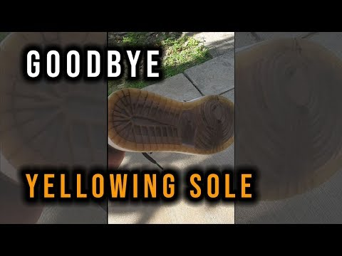 How to Whiten Yellow Icy Soles | Effective!
