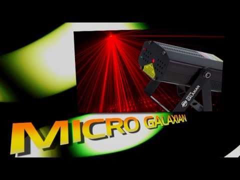 ADJ Micro Galaxian Laser Unit - Produces Over 200 R/G Beams