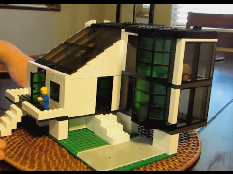 LEGO House MOC, Fully Furnished, Removable Roof For Easy Access To Interior