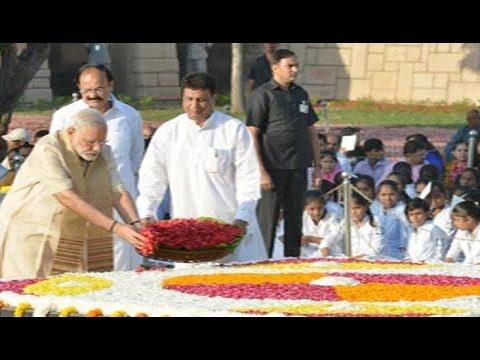 PM Narendra Modi pays tribute at Rajghat on Mahatma Gandhi's 69th death anniversary: NewsPoint TV
