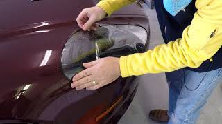 Protecting the Headlights of your Aston Martin DB9 with Clear Bra Paint Protection Film